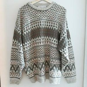 Geoffrey Beene| Chunky Knit Oversized Sweater